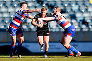 Halifax RLFC hooker Brandon Moore (14) in action  during the Betfred Championship match between Rochdale Hornets and Halifax RLFC at Spotland, Rochdale, England on 25 February 2018. Picture by Simon Davies.