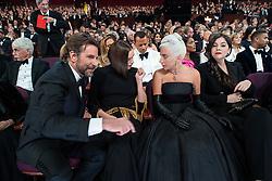 February 24, 2019 - Hollywood, California, U.S. - Oscar nominee Bradley Cooper, Irina Shayk, and Oscar nominee Lady Gaga during The 91st Oscars at the Dolby Theatre in Hollywood, CA on Sunday, February 24, 2019.. (Credit Image: © AMPAS/ZUMA Wire/ZUMAPRESS.com)