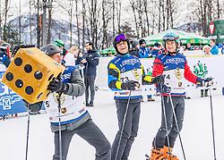 25.01.2020, Streif, Kitzbühel, AUT, FIS Weltcup Ski Alpin, im Rahmen der KitzCharityTrophy 2020 am Samstag, 25. Jänner 2020, auf der Streif in Kitzbühel. // f.l. Platen Detlev Von Michael Steiner Lutz Meschke during the KitzCharityTrophy 2020 at the Streif in Kitzbühel, Austria on 2020/01/25, im Bild v.l. Platen Detlev Von, Michael Steiner, Lutz Meschke // f.l. Platen Detlev Von Michael Steiner Lutz Meschke during the KitzCharityTrophy 2020 at the Streif in Kitzbühel, Austria on 2020/01/25. EXPA Pictures © 2020, PhotoCredit: EXPA/ Stefan Adelsberger