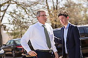 Former Florida Governor and GOP presidential candidate Jeb Bush arrives for an event with South Carolina Governor Nikki Haley March 17 29, 2015 in Columbia, South Carolina.