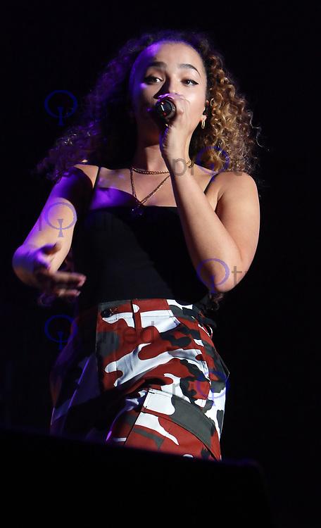 Ella Eyre performs at the Girlguiding Big Gig 2017,SSE Arena Wembley, London UK, 07 October 2017, Photo by Tejas Sandhu