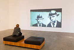 "Video installation by Douglas Watkin ""The Queen and I"" at Gallery of Modern Art or GoMA on Southbank in Brisbane Queensland Australia"