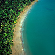 Aerial of Luquillo beach.Puerto Rico