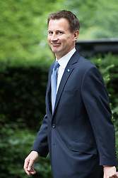 Downing Street, London, June 14th 2016. Health Secretary Jeremy Hunt arrives at 10 Downing Street to attend the weekly cabinet meeting.