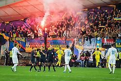 Ukraine team celebrates classification on Euro 2015 after the UEFA EURO 2016 Play-off for Final Tournament, Second leg between Slovenia and Ukraine, on November 17, 2015 in Stadium Ljudski vrt, Maribor, Slovenia. Photo by Ziga Zupan / Sportida