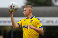 AFC Wimbledon midfielder Max Sanders (23) holding the ball during the EFL Sky Bet League 1 match between Southend United and AFC Wimbledon at Roots Hall, Southend, England on 12 October 2019.