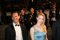 Kim Ly and Sarah Gadon attending the gala screening of The Sapphires at the 65th Cannes Film Festival. Saturday 19th May 2012 in Cannes Film Festival, France.