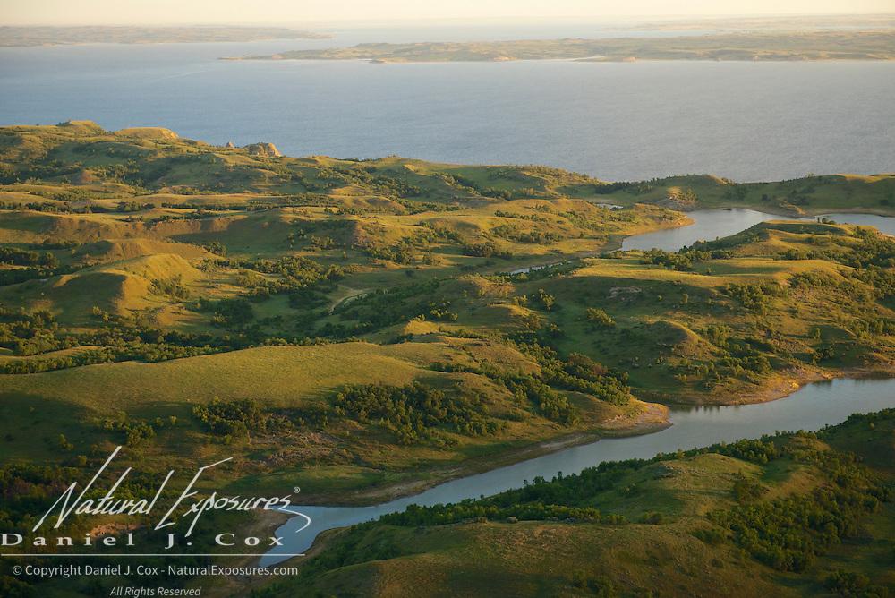 River bluffs along the edges of the Little Missouri River in North Dakota