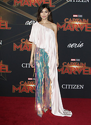 Premiere of Marvel Studio's Captain Marvel at El Capitan Theatre in Hollywood, California on 3/4/19. 04 Mar 2019 Pictured: Gemma Chan. Photo credit: River / MEGA TheMegaAgency.com +1 888 505 6342