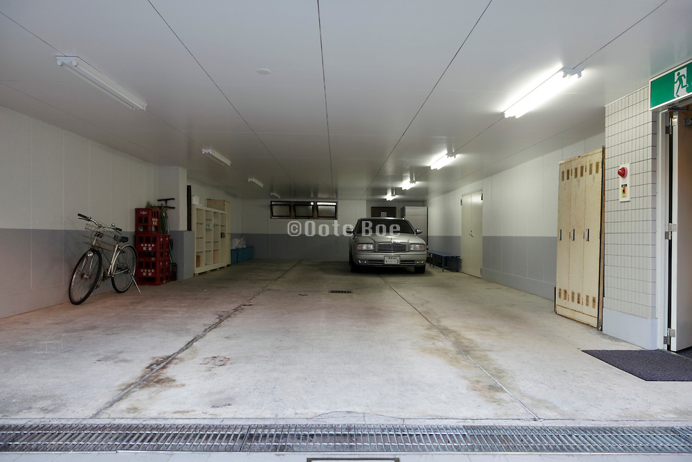 garage on the ground floor of a residential flat Japan Yokosuka