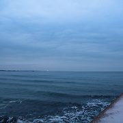 Today's overcast Winter Sunrise  at Narragansett Town Beach, Narragansett, RI,  February  6, 2013.