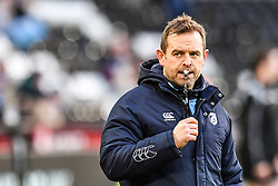 Cardiff Blues' Head Coach Danny Wilson during the pre match warm up<br /> <br /> Photographer Craig Thomas/Replay Images<br /> <br /> Guinness PRO14 Round 13 - Ospreys v Cardiff Blues - Saturday 6th January 2018 - Liberty Stadium - Swansea<br /> <br /> World Copyright © Replay Images . All rights reserved. info@replayimages.co.uk - http://replayimages.co.uk