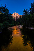 Merced River and Half Dome, Yosemite Valley, Yosemite National Park, California USA.