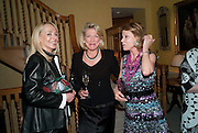 JUDY TAUBMAN; LADY LYNN FORRESTER ROTHSCHILD; KATHARINE RAYNER An exhibition of watercolours by William Rayner at Mallet's, New Bond St. Party afterwards at Bellami's, bruton Place. London. 16 June 2010. .-DO NOT ARCHIVE-© Copyright Photograph by Dafydd Jones. 248 Clapham Rd. London SW9 0PZ. Tel 0207 820 0771. www.dafjones.com.