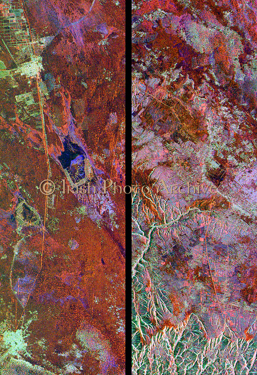 Space Radar Image of Great Wall of China