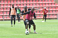 Orlando Pirates players during a training session - 22 Oct 2018