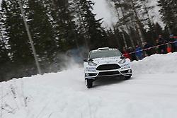 15.02.2015,  Karlstad, SWE, FIA, WRC, Schweden Rallye, im Bild Ott Tanak/Raigo Molder (M-Sport WRT/Ford Fiesta RS WRC) // during the WRC Sweden Rallye at the Karlstad in Karlstad, Sweden on 2015/02/15. EXPA Pictures © 2015, PhotoCredit: EXPA/ Eibner-Pressefoto/ Bermel<br /> <br /> *****ATTENTION - OUT of GER*****