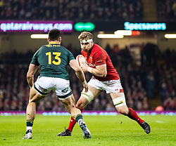Aaron Wainwright of Wales<br /> <br /> Photographer Simon King/Replay Images<br /> <br /> Under Armour Series - Wales v South Africa - Saturday 24th November 2018 - Principality Stadium - Cardiff<br /> <br /> World Copyright © Replay Images . All rights reserved. info@replayimages.co.uk - http://replayimages.co.uk