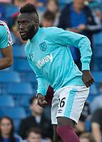 Football - 2016/2017 Premier League - Chelsea V West Ham United. <br /> <br /> Arthur Masuaku of West Ham warming up at Stamford Bridge.<br /> <br /> COLORSPORT/DANIEL BEARHAM