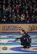 "Glasgow. SCOTLAND.  Scotland ""Skip"" Tom , BREWSTER""Round Robin"" Game. Le Gruyère European Curling Championships. 2016 Venue, Braehead  Scotland<br /> Tuesday  22/11/2016<br /> <br /> [Mandatory Credit; Peter Spurrier/Intersport-images]"