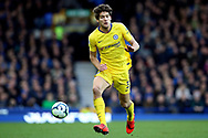 Chelsea defender Marcos Alonso  during the Premier League match between Everton and Chelsea at Goodison Park, Liverpool, England on 17 March 2019.