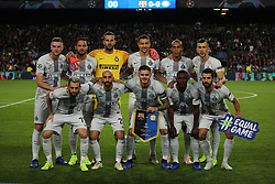 October 24, 2018 - Barcelona, Spain - the italian team during the match between FC Barcelona and Inter, corresponding to the week 3 of the group stage of the UEFA Champions Leage, played at the Camp Nou Stadium, on 24th October 2018, in Barcelona, Spain. (Credit Image: © Joan Valls/NurPhoto via ZUMA Press)