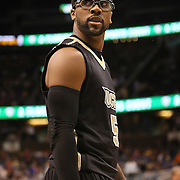 University of Central Florida guard Marcus Jordan (5) looks at the referee  while taking on the Florida Gators at the Amway Center on December 1, 2010 in Orlando, Florida. Central Florida won the game 57-54 for their first ever victory against a nationally ranked team. (AP Photo/Alex Menendez)