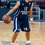 Anadolu Efes's Sasha VUJACIC during their Turkish Airlines Euroleague Basketball Group C Game 2 match Anadolu Efes between Belgacom Spirou  at Abdi Ipekci Arena in Istanbul, Turkey, Wednesday, October 26, 2011. Photo by TURKPIX