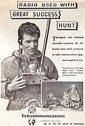 Mount Everest 1953 British first ascent advert - radio communications