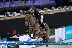 Poels Zara, BEL, Calimero<br /> FEI Ponies Jumping Trophy<br /> Vlaanderens Kerstjumping Memorial Eric Wauters<br /> © Dirk Caremans<br /> 27/12/2016