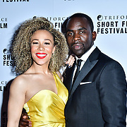 Ria Hebdon, Jimmy Akingbola attend TriForce Short Festival, on 30 November 2019, at BFI Southbank, London, UK.