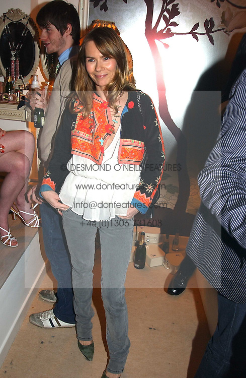 The HON.JACKIE PERTWEE wife of actor Sean Petwee at a party to celebrate the opeing of the new Paul & Joe Boutique at 134 Sloane Street, London SW1 on 14th April 2005.<br />