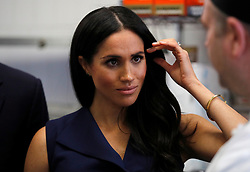 The Duchess of Sussex during a visit to Mission Australia social enterprise restaurant Charcoal Lane in Melbourne, on the third day of the royal couple's visit to Australia.
