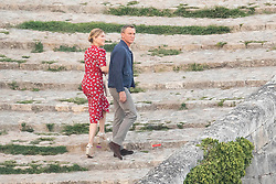 *PREMIUM EXCLUSIVE. NO WEB UNTIL 5pm EST SUNDAY SEPT 15* Daniel Craig kisses French co-star Léa Seydoux, as they film scenes for James Bond - No Time to Die in Matera, Italy.The pair were seen to be joking between takes as they shot on cobbled steps at sunset in the ancient southern Italian city. 12 Sep 2019 Pictured: Daniel Craig kisses co-star Léa Seydoux as they film scenes for James Bond - No Time to Die in Matera, Italy. Photo credit: MEGA TheMegaAgency.com +1 888 505 6342