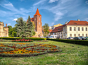 Kraków 2019-07-20. Plac Świętego Ducha w Krakowie, na drugim planie Kościół Świętego Krzyża