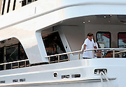 **EXCLUSIVE**.Ron Pearlman on his Yacht Ultima II.St. Barth, Caribbean.Tuesday, December, 27, 2005 .Photo By Celebrityvibe.com.To license this image call (212) 410 5354 or;.Email: sales@celebrityvibe.com; .Website: http://www.celebrityvibe.com/. ....