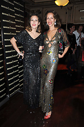 Left to right, CHARLOTTE DELLAL and her mother ANDREA DELLAL at a party and fashion show to celebrate the 40th anniversary of Butler & Wilson held at Koko, 1 Camden High Street, London NW1 on 12th November 2009.