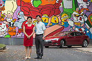 Husband and wife team Fan Yi abd Zhang Jie photographed at their office complex in Hangzhou, China on 07 September 2014.