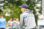 Leeds United midfielder Ezgjan Alioski (10) arrives at the ground during the Pre-Season Friendly match between Tadcaster Albion and Leeds United at i2i Stadium, Tadcaster, United Kingdom on 17 July 2019.
