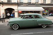 American vintage classic Buick car in green. London, UK.