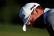 Jul 1, 2017; Potomac, MD, USA; Daniel Summerhays watches his putt on the 16th green during the third round of the Quicken Loans National golf tournament at TPC Potomac at Avenel Farm. Mandatory Credit: Peter Casey-USA TODAY Sports
