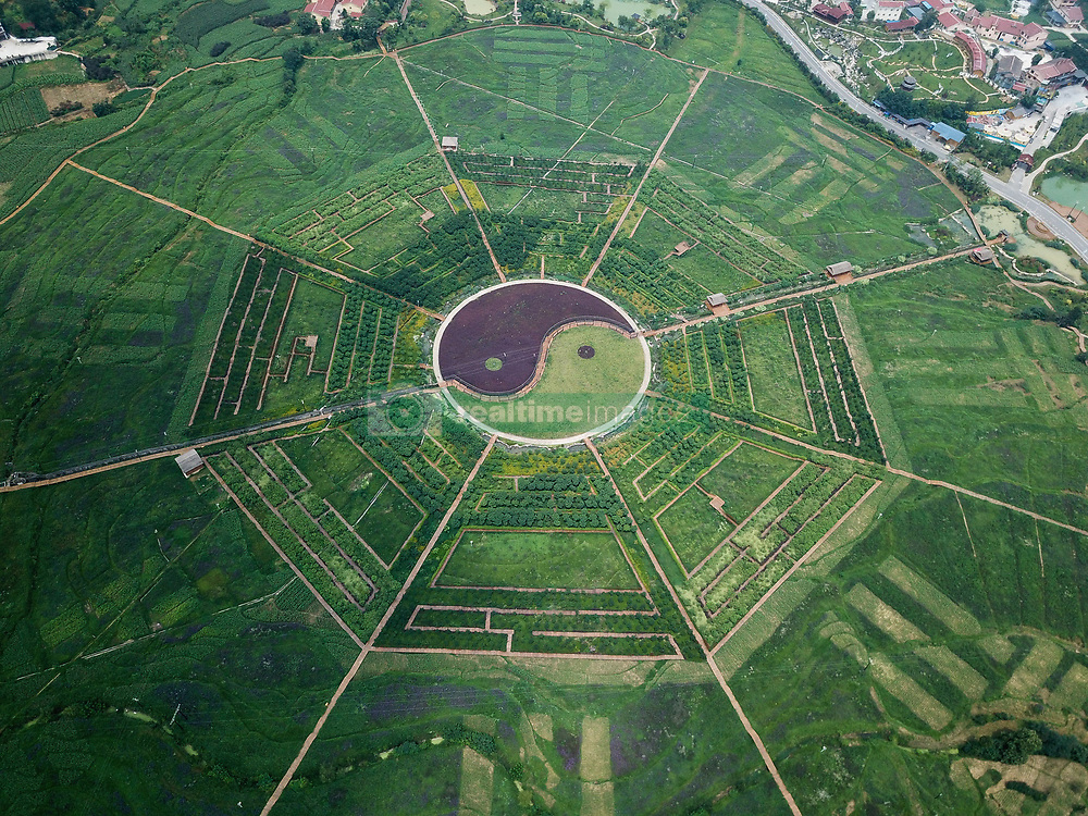July 4, 2018 - Renhuai, Renhuai, China - Renhuai, CHINA-The Eight Diagrams shaped fields can be seen at Pipa Village in Renhuai, southwest China's Guizhou Province. (Credit Image: © SIPA Asia via ZUMA Wire)