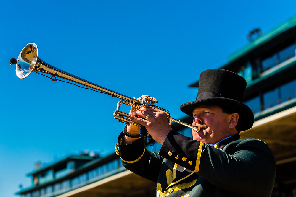 Bugler, Keeneland Racecourse, Lexington, Kentucky USA.