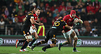 Rugby Union - 2017 British & Irish Lions Tour of New Zealand - Chiefs vs. British & Irish Lions<br /> <br /> James Haskell of The British and Irish Lions is tackled by Mitchell Karpik of Chiefs at FMG Stadium Waikato, Hamilton.<br /> <br /> COLORSPORT/LYNNE CAMERON