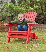 Young boy playing in backyard<br />Winnipeg<br />Manitoba<br />Canada