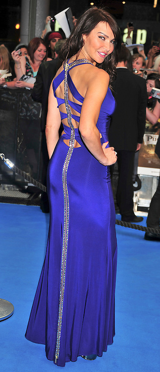 """© licensed to London News Pictures. London, UK  12/05/11 Lizzy Cundy attends the UK premiere of Pirates of the Carribean 4 """"on Stranger Tides"""" at Londons Westfield . Please see special instructions for usage rates. Photo credit should read AlanRoxborough/LNP"""