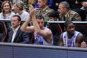 DESCRIZIONE : Campionato 2014/15 Serie A Beko Dinamo Banco di Sardegna Sassari - Acqua Vitasnella Cantu'<br /> GIOCATORE : Manuel Vanuzzo<br /> CATEGORIA : Panchina Mani Ritratto Esultanza<br /> SQUADRA : Dinamo Banco di Sardegna Sassari<br /> EVENTO : LegaBasket Serie A Beko 2014/2015<br /> GARA : Dinamo Banco di Sardegna Sassari - Acqua Vitasnella Cantu'<br /> DATA : 28/02/2015<br /> SPORT : Pallacanestro <br /> AUTORE : Agenzia Ciamillo-Castoria/L.Canu<br /> Galleria : LegaBasket Serie A Beko 2014/2015