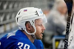 Jan Mursak of Slovenia in penalty box during the 2017 IIHF Men's World Championship group B Ice hockey match between National Teams of Slovenia and Belarus, on May 13, 2017 in AccorHotels Arena in Paris, France. Photo by Vid Ponikvar / Sportida