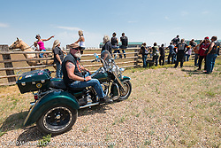 Dean Shawler at the Spur Creek Ranch north of Sturgis during a stop for food and cowboy games on the annual Michael Lichter - Sugar Bear Ride hosted by Jay Allen from the Easyriders Saloon during the Sturgis Black Hills Motorcycle Rally. SD, USA. Sunday, August 3, 2014. Photography ©2014 Michael Lichter.