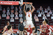 Southern California Trojans forward Evan Mobley (4) dunks during an NCAA men's basketball game against the Stanford Cardinal, Wednesday, March 3, 2021, in Los Angeles. USC defeated Stanford 79-42. (Jon Endow/Image of Sport)